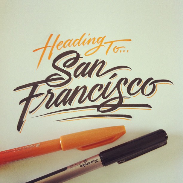 Hand lettering piece
