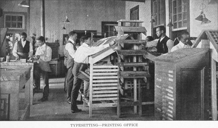 Typesetters at work