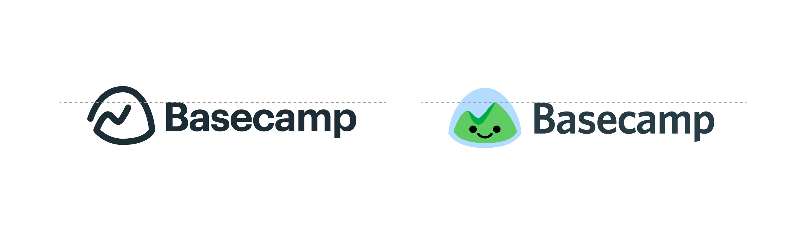 Basecamp logos: horizontal alignment