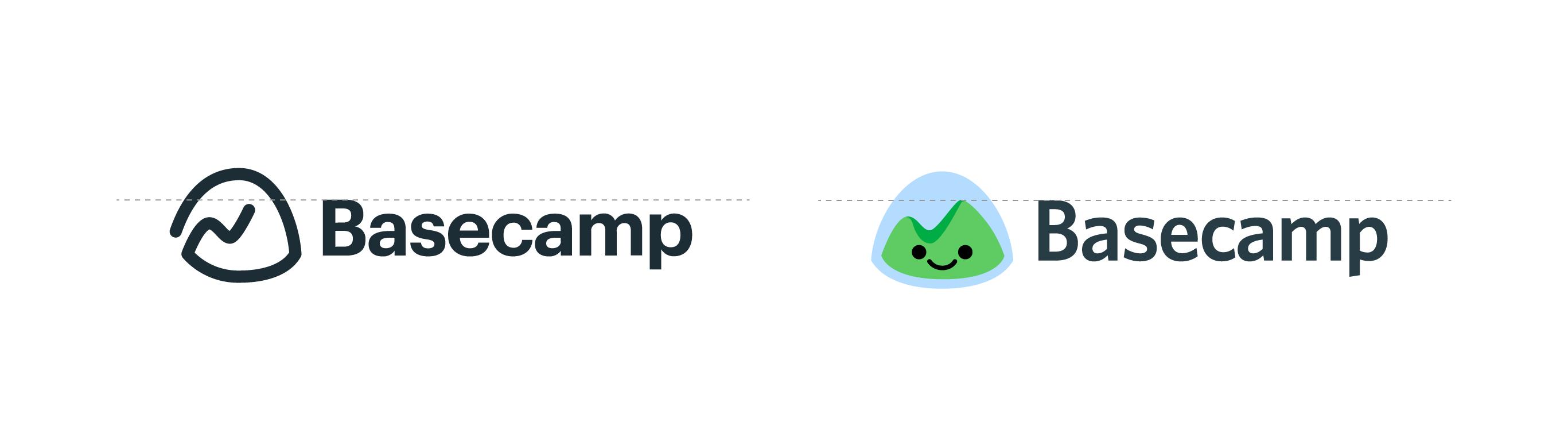 Basecamp logos: horizontal alignment