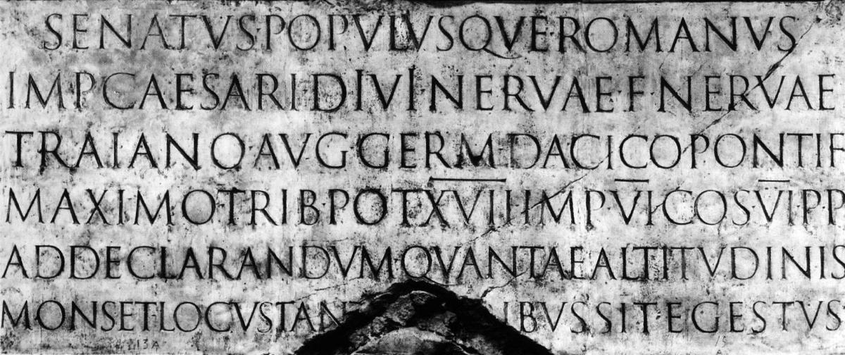 Trajan's column text